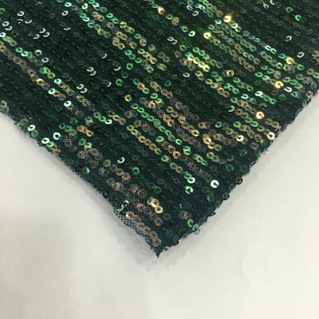 2019 Newest Colorful Sequin Stripes Embroidery Fabric