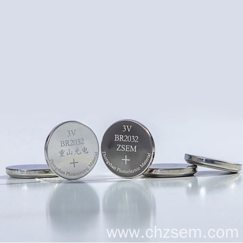 Button Lithium-fluorocarbon Battery (Li-(CFx)n) Of BR2354