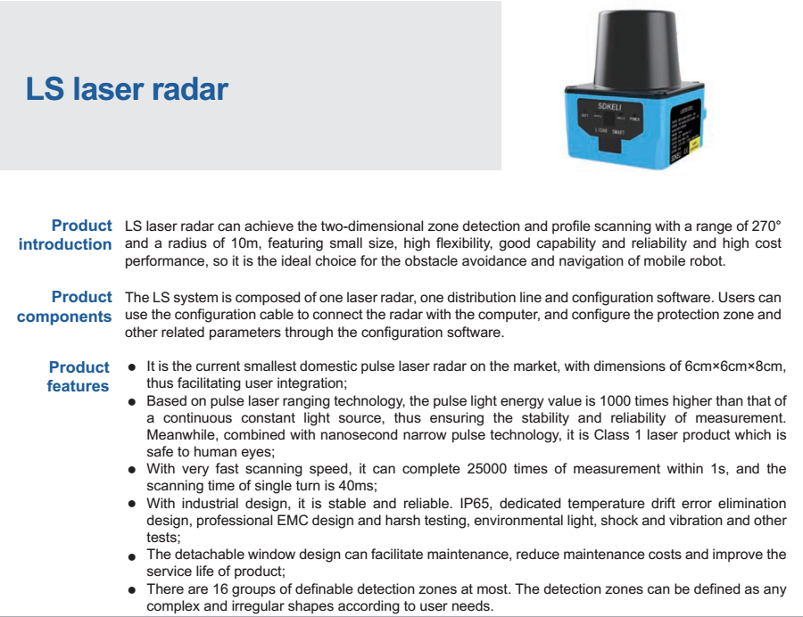 Sick Laser Radar Scanner Tim