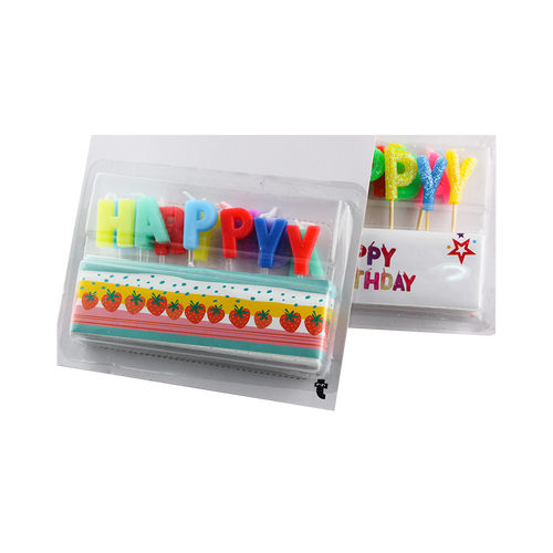 Colored Happy Birthday Letter Shape Birthday Candle