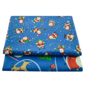 Booksew Printed Blue Christmas Festival Series PureCotton Fabrics for Needlework Sewing DIY Patchwork Per Meter Cloth Bed Sheet