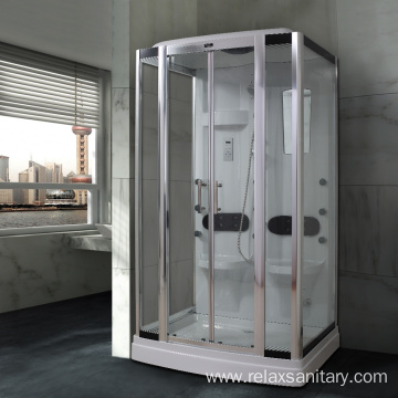 Walk in shower steam room with light/ABS tray