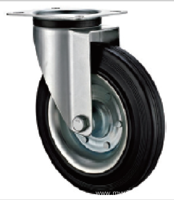 100  mm   industrial rubber casters without brakes