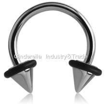 Surgical Steel Micro-Circular Barbell with UFO-Cones