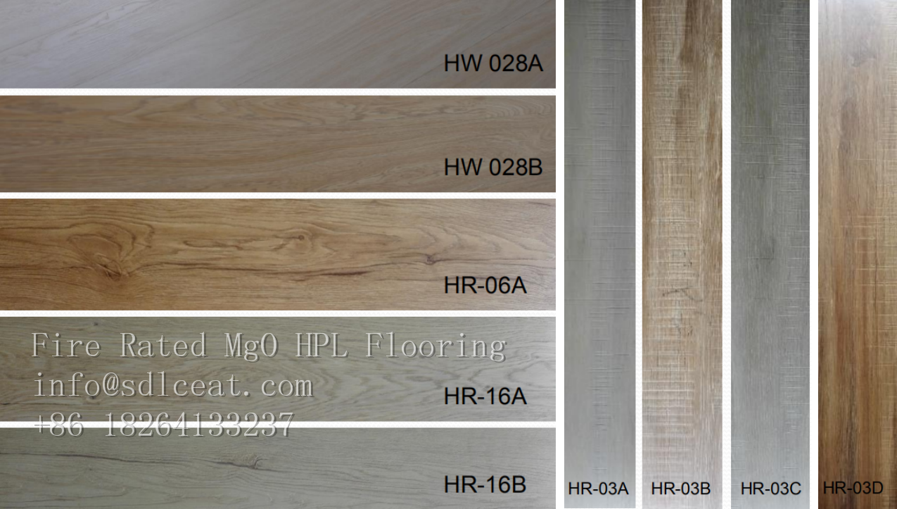 color of mgo decorative HPL flooring