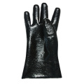 PVC dipped gloves rough finish interlock liner 11''