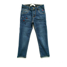 Blended Pants Children Jeans with Embroidery