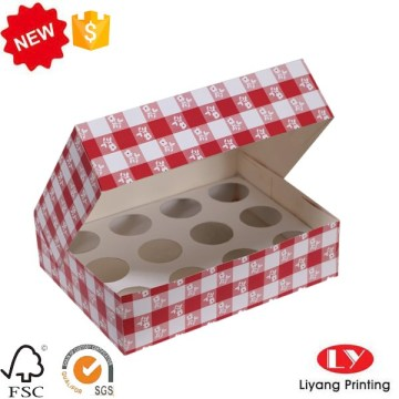 Cheap cupcake food box with clear window