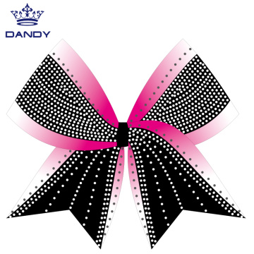 Customized tie dye cheer bow