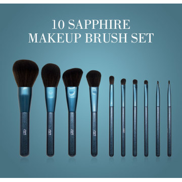 morphe brush Luxury Blue Glitter Comestics Brushes Set