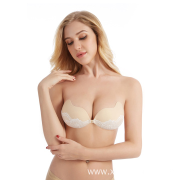 Mango-shaped Strapless Fabric Invisible Bra