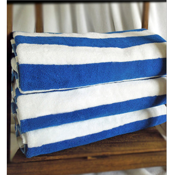 Blue White Stripe Hotel Poolhanddukar