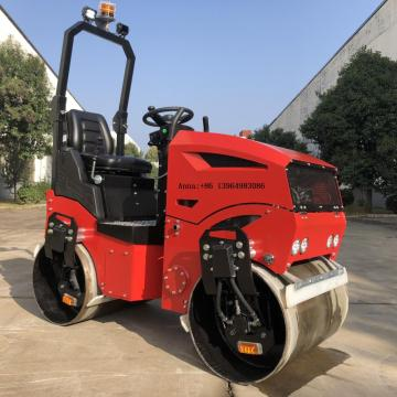 New design double steel wheel road roller 1200KG