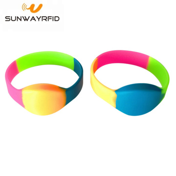 High Quality Multi Color RFID Ultralight EV1 Wristbands
