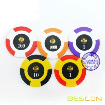 Bescon High Quality Two Tone Tournament Clay Poker Chips
