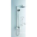 Round style exposed shower system with tub faucet