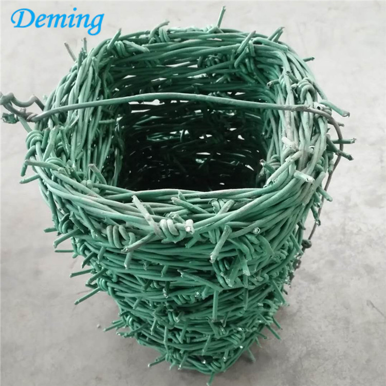 Cheap PVC Coated Barbed Wire Price Per Roll