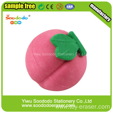 3D Peach Shaped Eraser  ,wholesale novelty erasers