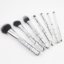 7PCS stone grain makeup brush set wooden