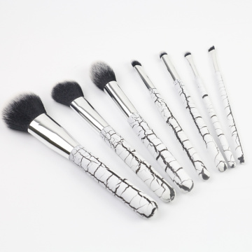7 PCS batu gandum makeup brush set kayu