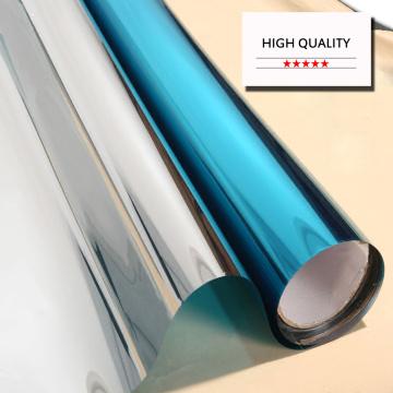 Multi-sizes Solar Window Film One Way Mirror Privacy Anti UV Self-adhesive Film Decorative Insulation Reflective Stickers Blue