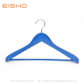 EISHO Large Blue Wood Suit Coat Hanger