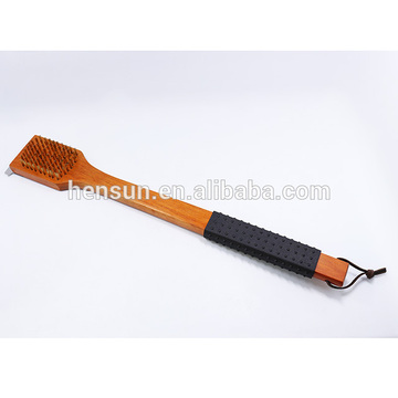 Long Wooden Handle Big Barbecue Cleaning Brush
