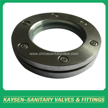 Sanitary flanged sight glasses stainless steel