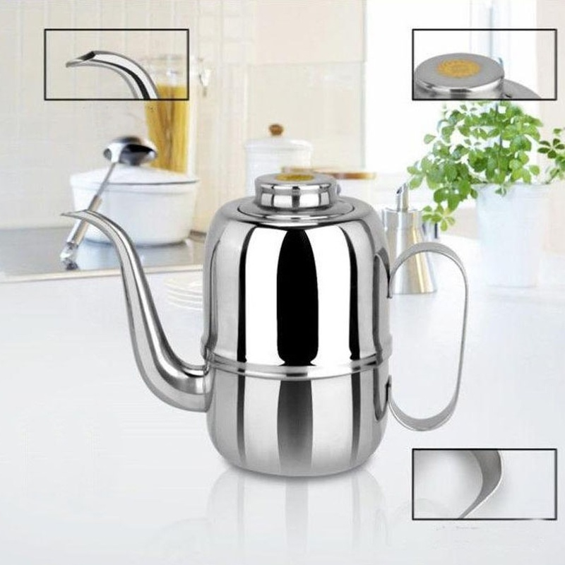 New Multi-model Kitchen Supplies Stainless Steel Oil Cans Ang Pot Home Leakproof Soy Sauce Pot Seasoning Sesame Oil Bottled Tank