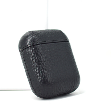 pebble leather for airpord withmetal keyring