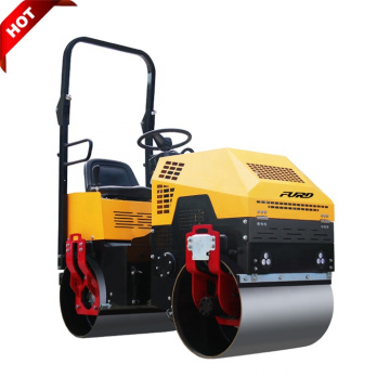 Jining Made 1 Ton Double Drum Vibratory Soil Compactor Machine