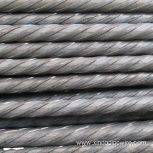 steel rod 7mm spiral surface 1670Mpa
