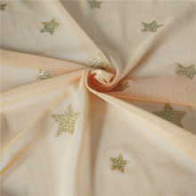Glitter stars in Soft tulle fabric for decoration