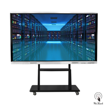 98 Inches UHD Touch Panel with mobile stand