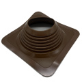 Square EPDM silicone aluminum roof flashing for pipe