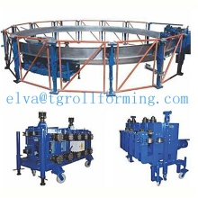 Automatic spiral grain silo roll forming machine