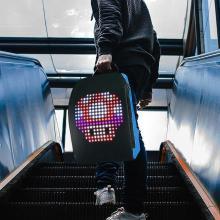 Advertising Light Led Display Backpack Smart WIFI Version APP Control Backpack