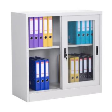 Shelf File Sliding Door Office Cupboard