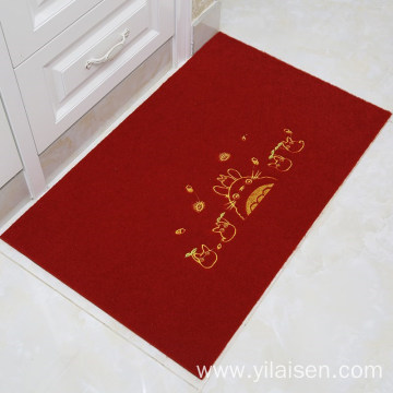 Non woven carpet exhibition beautiful embroidered mat