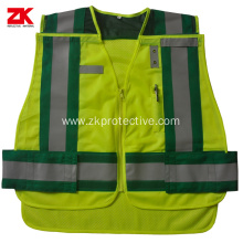 Low price American design High quality reflective waistcoat