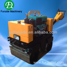 walk behind double drum water cooled diesel vibrating roller compactor