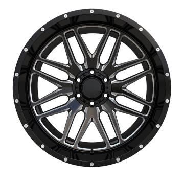 Aluminium Offroad Wheel 20x12 6x139.7 Black Milled