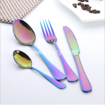 Best Selling Colorful Cutlery Stainless Steel Dinnerware Set