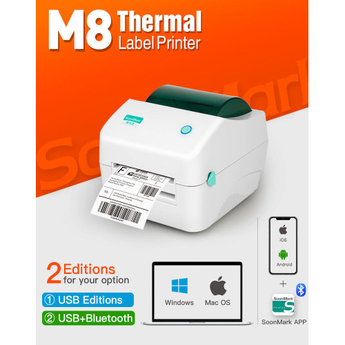 4x6 bluetooth direct thermal postage address label printer
