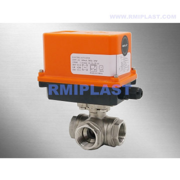 Electric Actuated Ball Valve Three Way