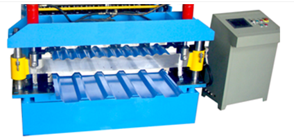 Steel metal sheet rolling machine
