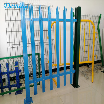 Europe standard colorful steel palisade fencing