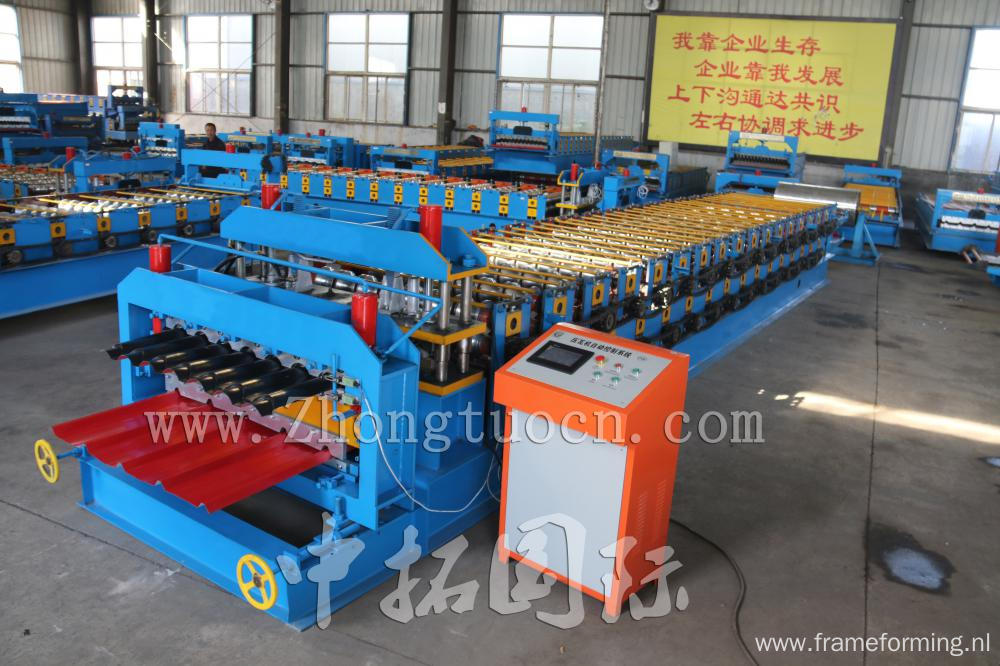 Color Galvanized Metal Roofing Sheet Double Layer Roll Forming Machine