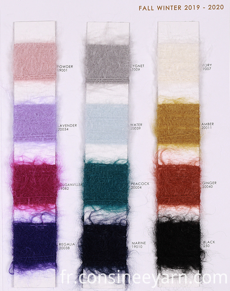3nm brushed mohair yarn