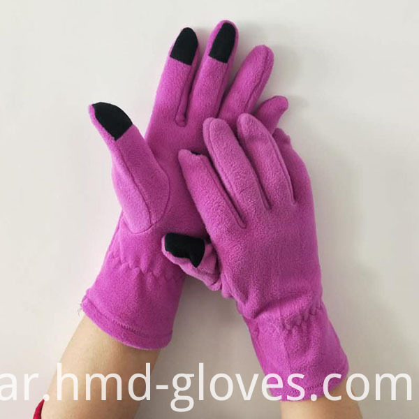 Touch Screen Fleece Gloves For Ladies